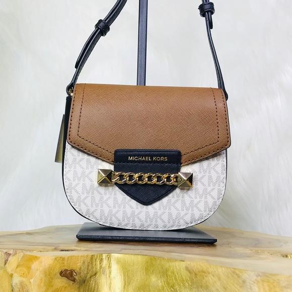 359af90e356b Michael Kors Bags | Karla Small Saddle Crossbody Bag | Poshmark